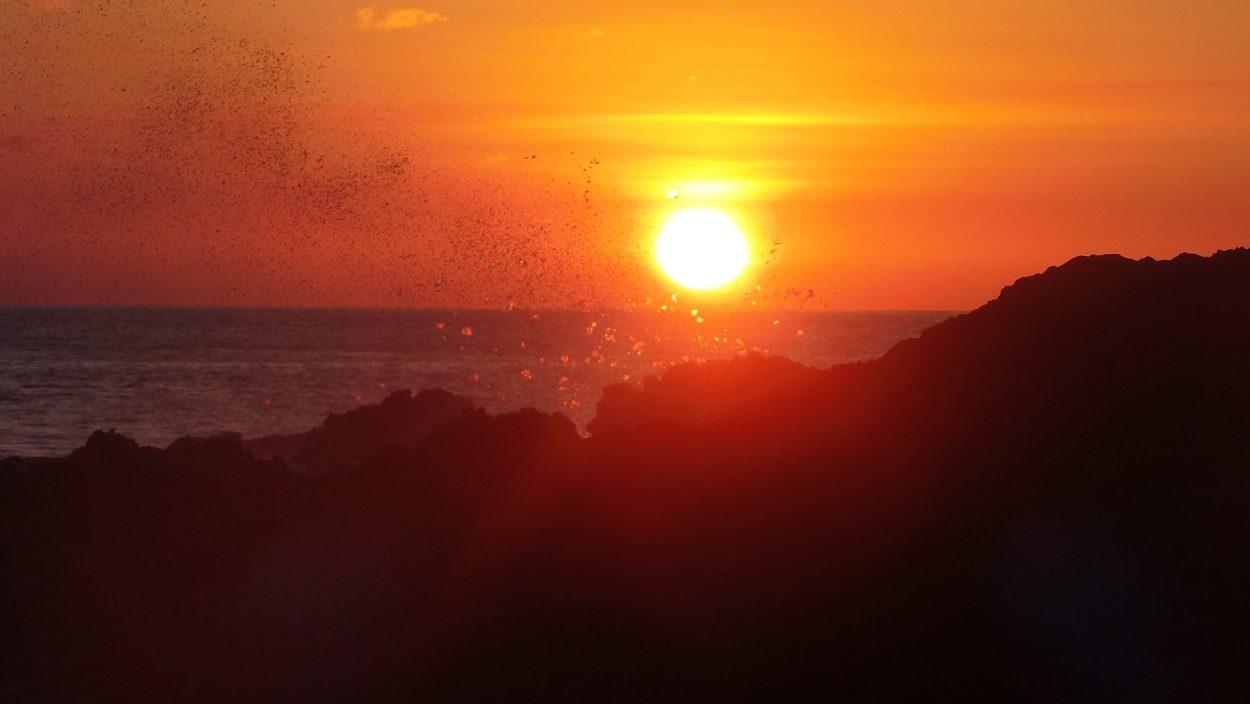 cape verde beach sunset